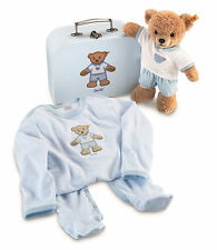 Steiff Baby Sleep Well Teddy Bear and Outfit Gift Set in Suitcase EAN 239564 NWT