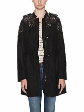 Free People Embroidered Embellished Sergeant Jacket Coat Winter M 10 $250