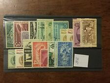 1958 commemorative set - 18 stamps (1 Lincoln) MNH