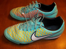 Nike Magista Soccer Shoes Indoor W Blu Orange Yellow Womens sz 7.5 FREE SHIPPING