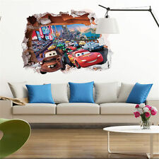 Pixar Cars Lightning McQueen Mater Nursery Kid Room 3D Wall Sticker Decor