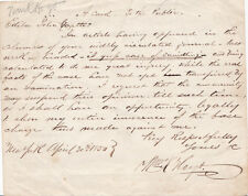 1850 AUTOGRAPH LETTER by Anti-Catholic REV. WILLIAM K. HOYT - Maria Monk HOAX