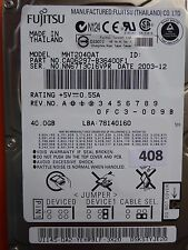 40GB Fujitsu MHT2040AT | P/N: CA06297-B36400F1 | 2003-12 | CA21325-B12X #408