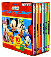 Disney Mickey Mouse Clubhouse Little Library 6 Children Books Brand New Boxed