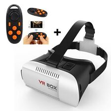 3D Virtual Reality VR Google Cardboard Glasses + Bluetooth Gamepad Controller UK