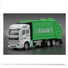 1:32 Garbage Truck Trash Bin Vehicles Diecast Model Car Toy Christmas Gift