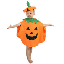 2PC Halloween Party Pumpkin Clothes Cosplay Dress Costume Kid Boy Girls Teens EF