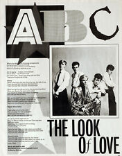 ABC THE LOOK OF LOVE ORIGINAL 1981 MAGAZINE CUTTING - MARTIN FRY