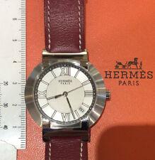 Hermes Paris Nomade 1.710 orologio nuovo acciaio-pelle autoquartz deployant