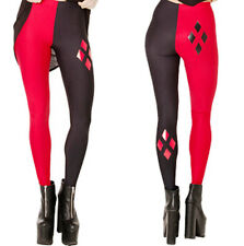 DC Comics Harley Quinn Polyester Spandex Leggings OSFM Adults