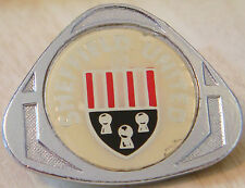 SHEFFIELD UNITED Vintage 70s 80s insert type Badge Brooch pin Chrome 36mm x 29mm