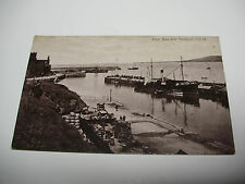 Lot140v - c1905 PEEL BAY & HARBOUR With STEAMER in PORT - Isle of Man POSTCARD