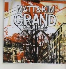 (AZ345) Matt & Kim, Grand Album Sampler - DJ CD