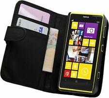 Black Leather Wallet Flip Case for Nokia Lumia 1020 (Nokia EOS) - Phone Cover