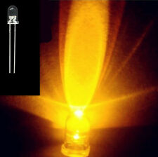 100Stk. Neu 5mm Super Bright Round Gelb Yellow LED Lamp 5000-6000mcd