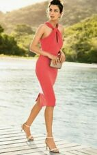 BEAUTIFUL * NEXT * TAILORED FITTED CORAL DRESS SIZE 18 TALL NEW