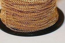 42ft Gold twist Chain Small links 3x2mm 1-3 day Shipping