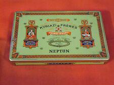 Alte Dose , Blechdose , Zigarettendose , Kyriazi Freres Neptun , 40 Cigaretten