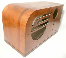 vintage PHILCO 37-630 RADIO part: ART DECO CLASSIC WOOD SHELL  in  nice shape -