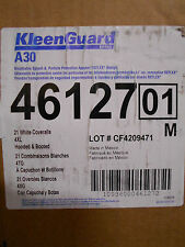 BOX OF 21 KLEENGUARD 46127 Hooded Microforce Booted 4XL Coveralls Paint Suit