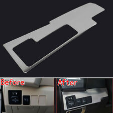 Stainless Headlight Button Switch Panel Trim Cover Fit For Toyota Corolla 14-16