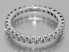 R122 Genuine 9ct White Gold Natural Diamond 1.00ct Eternity Wedding Ring size M