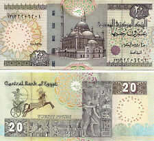 Egypt 2010 Uncirculated 20 Pounds Note
