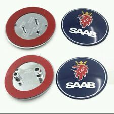 Saab Bonnet Front & Rear Boot Badge Emblem 9-3/9-5 2003-10 + 4 Free Bose Badges