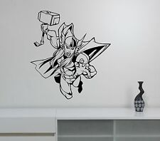 Thor Wall Decal Superhero Vinyl Sticker Marvel Comics Art Room Bedroom Decor th2