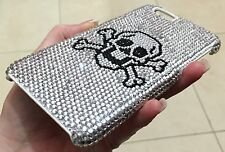 Black Skull Clear Swarovski Elements Crystal Bling Case Cover Skin iPhone 7 Plus