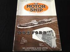 VINTAGE 1954 THE MOTOR SHIP DOXFORD CYLINDER ENGINE 7,200 BHP