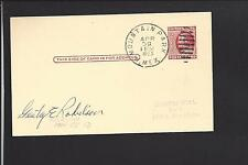 SANTA FE, NEW MEXICO,1903, GOVERNMENT POSTAL CARD, TERRITORIAL CL. BANK ADVT.