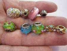 Bead Charm Lot Rhinestones Glass Gold and silver tone Jewelry making pendants