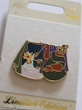 DISNEY ROBIN HOOD LITTLE JOHN SIR HISS PUPPET SHOW LIMITED EDITION PIN GRAIL!