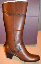 Clarks Ingalls Vicky Women's Leather Mid Calf Boot Style 66783 BROWN SZ 12 NIB