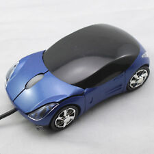Blue Car Style LED USB Wired Gaming Optical Mouse Mice for PC Laptop Computer
