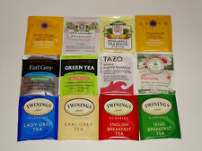 12 TEA BAG PACKETS SAMPLE SET TASTE TEST SAMPLER HIBISCUS GINGER GREEN EARL GREY