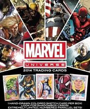 2014 MARVEL UNIVERSE Rittenhouse factory SEALED HOBBY BOX (24 PACKS) w/SKETCH