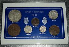 1934 GB Gran Bretagna britannico Vintage MEDAGLIA Set (83rd Compleanno Regalo Nascita ANNO)