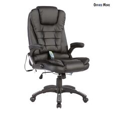 Heated Vibrating Executive Office Massage Chair Ergonomic Computer Desk Chair