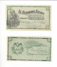 COLOMBIA   1 PESO PROOF FRONT & BACK  1 PESO  ESTADO POPOYAN   UNC