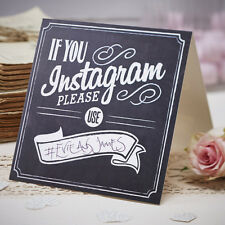 Chalkboard Style Wedding Sign - IF YOU INSTAGRAM, PLEASE USE... Vintage Wedding