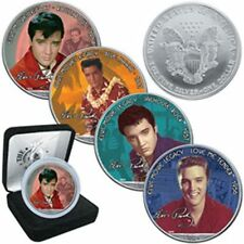 ESTADOS UNIDOS LIBERTY SILVER USA DOLLARS DOLAR PLATA ELVIS PRESLEY Love me tend