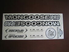 Mongoose PRO RX 10.9 Titanium Stickers Silver, Black & White.