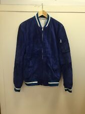 Levis Jeans Surf Blue Premium 2014 Suede Baseball Suede Leather Jacket Medium