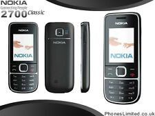 NEW CONDITION NOKIA 2700 SIM FREE (UNLOCKED) BASIC CAMERA MOBILE PHONE - BLACK
