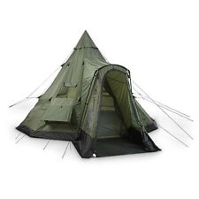 Guide Gear Deluxe 10 Person Camping Teepee Tent for Family Hiking Outdoor Trip