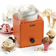 Set of BELLA 1.5QT Ice Cream Maker- Orange color.