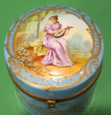 Meissen Hand Painted Hinged Box Young Girl Lute Artist Signed MAX