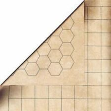 Chessex Double-Sided Reversible Battle Mat 1 1/2  inch Squares & Hexes CHX 96257